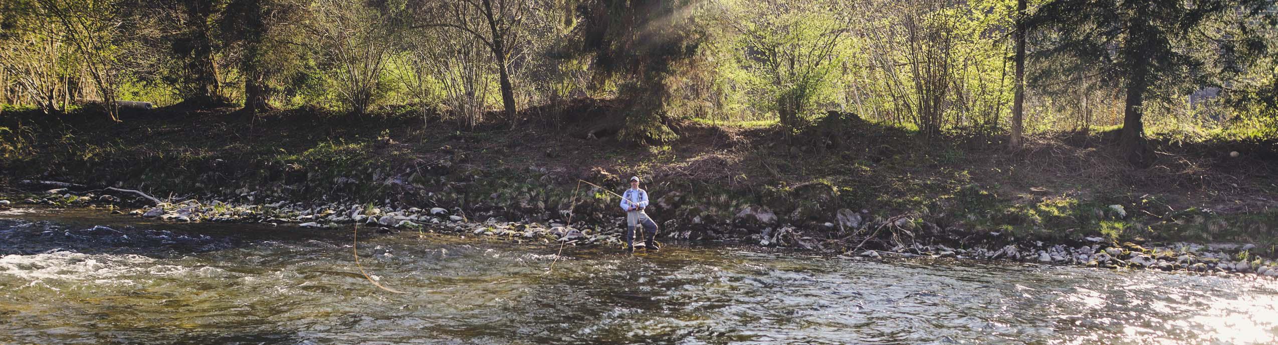 Fliegenfischerkurs Bodensee Oberschwaben Argen Fliegenfischen lernen Fliegenfischerschule